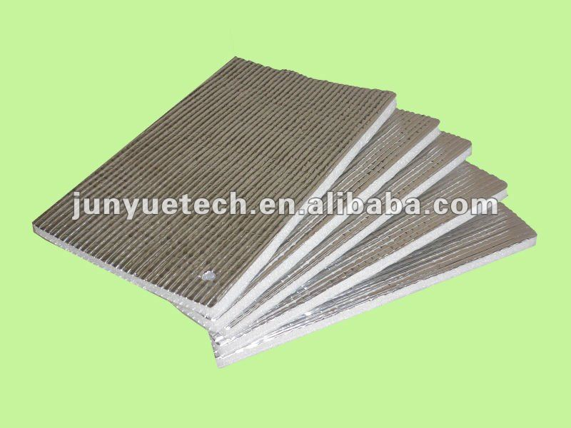 hardboard insulation Laminated PE-film Alu foam insulation material with great price