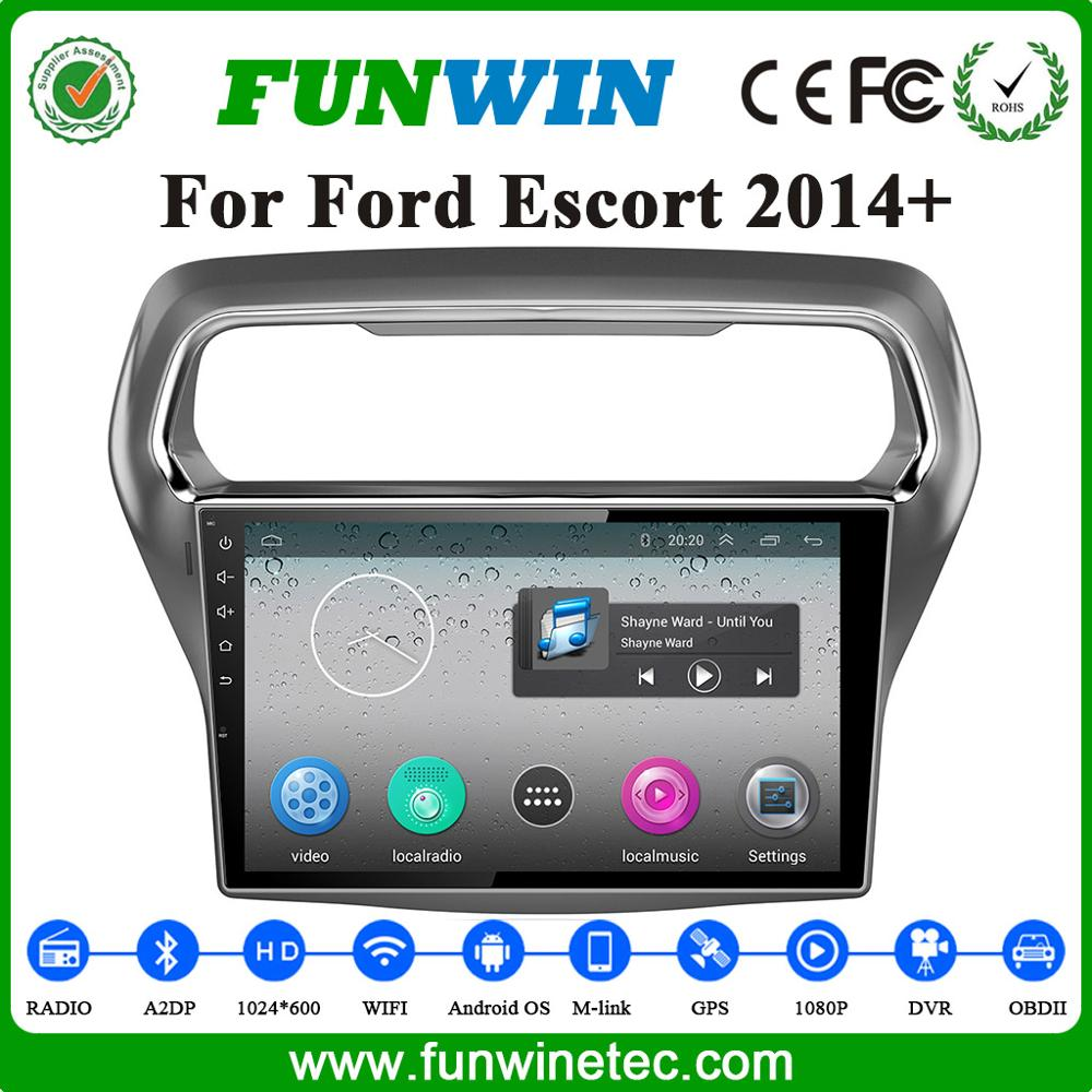 Factory Price Android 4.4 Car Multimedia For Ford Escort 2014 Support Bluetooth
