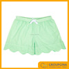 Ladies Lounge Seersucker Scalloped Shorts