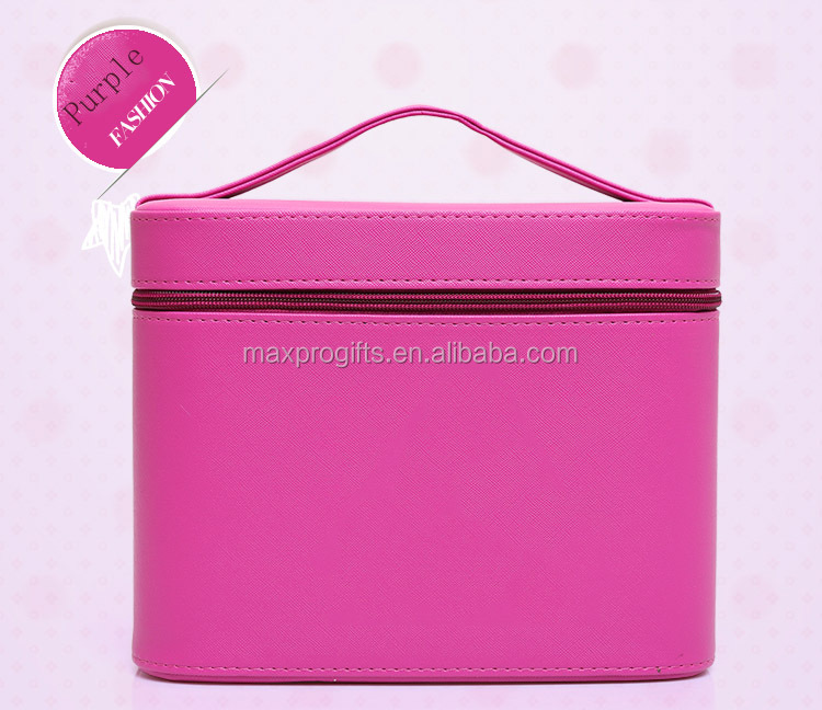 USA Hotsale popular lady leather mirror makeup train case, makeup bag, cosmetic bag train case