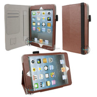 fancy back standing pu leather tablet case for ipad mini 3 shockproof
