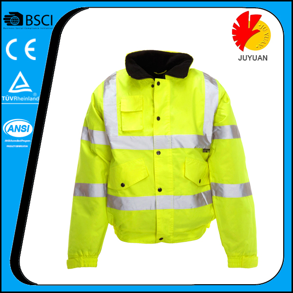 EN ISO 20471 breathable rain jackets