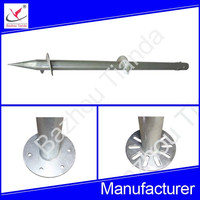 high quality ground screw pile anchor for solar power system