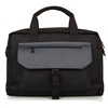Wholesale custom big size black durable nylon and leather business travel bag tote laptop briefcase for man