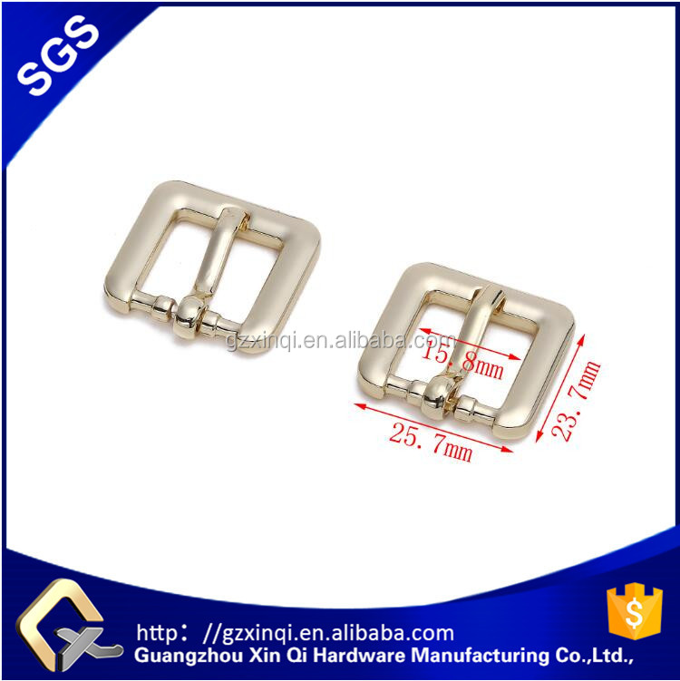 XINQI brand bag accessories handbag hardware in Light golden color zinc alloy material metal buckle