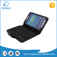 Tablet pc leather wireless bluetooth keyboard case for samsung Tab 3