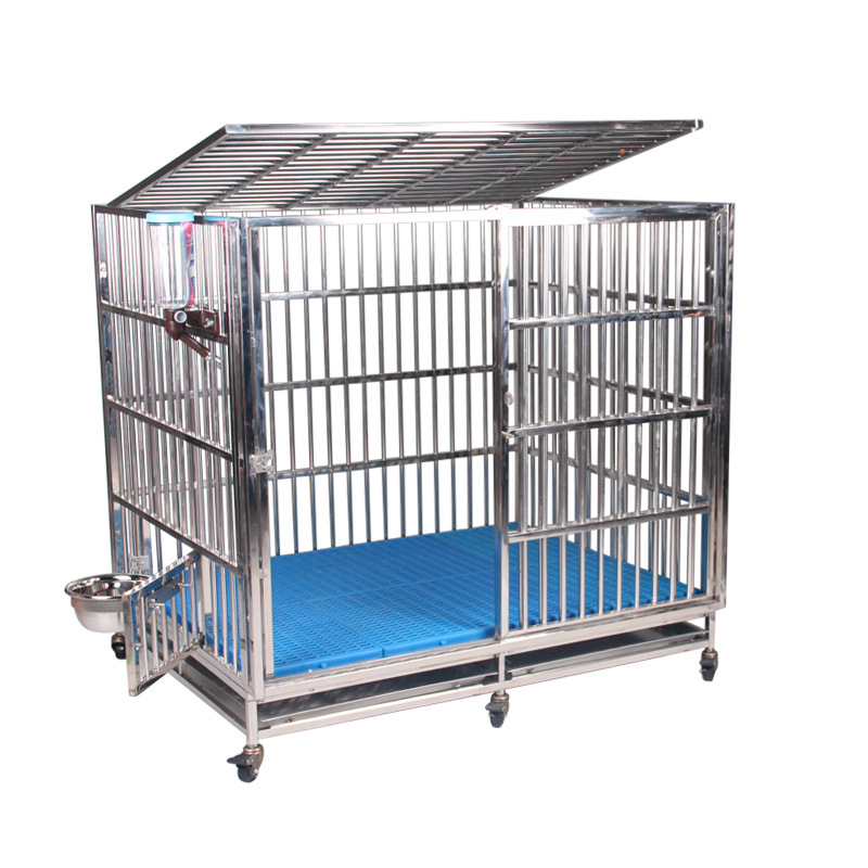 High-grade stainless steel dog cage wall thickened peripheral fully welded durable large dog kennel