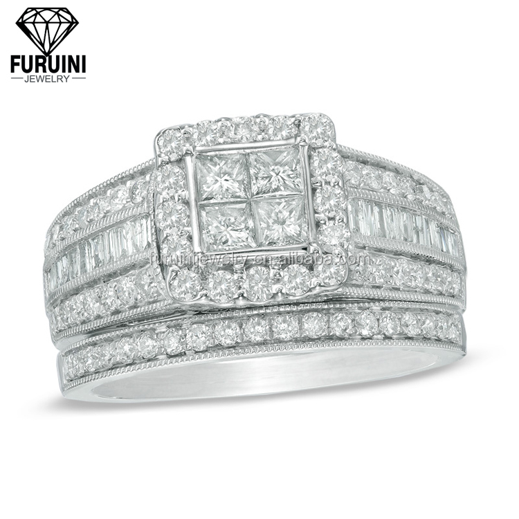 Women sterling silver AAA CZ poison ring 2 rounds wide ring jewelry