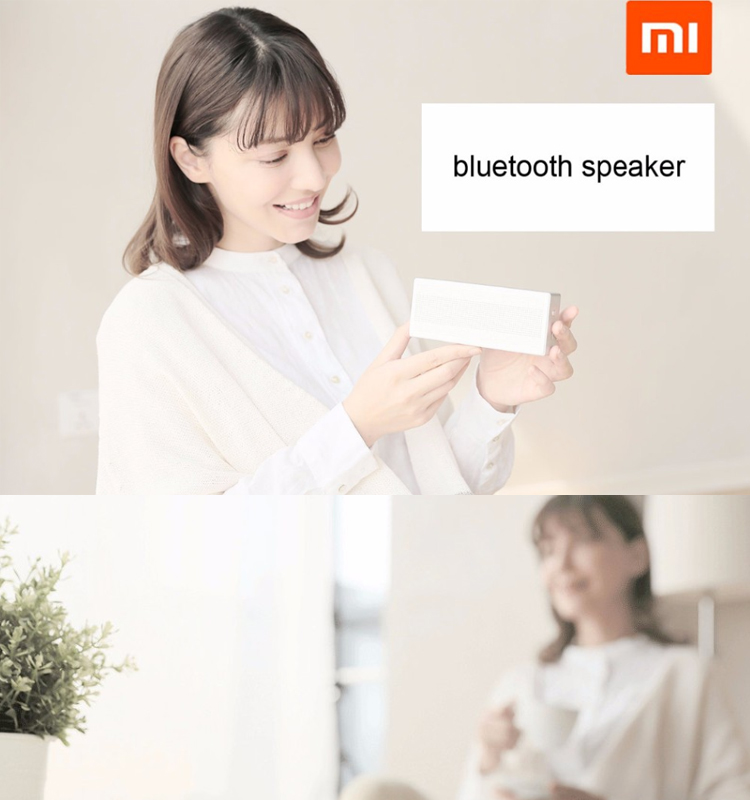 2017 Original Novo Xiaomi Mi Portátil Bluetooth Speaker Wireless Mini Caixa Quadrada 4.0 Speaker Bluetooth para IPhone e Android
