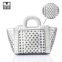 Especial Design PU Leather Ladies Bags Handbag Manufacturer Wholesale Silver Handbag