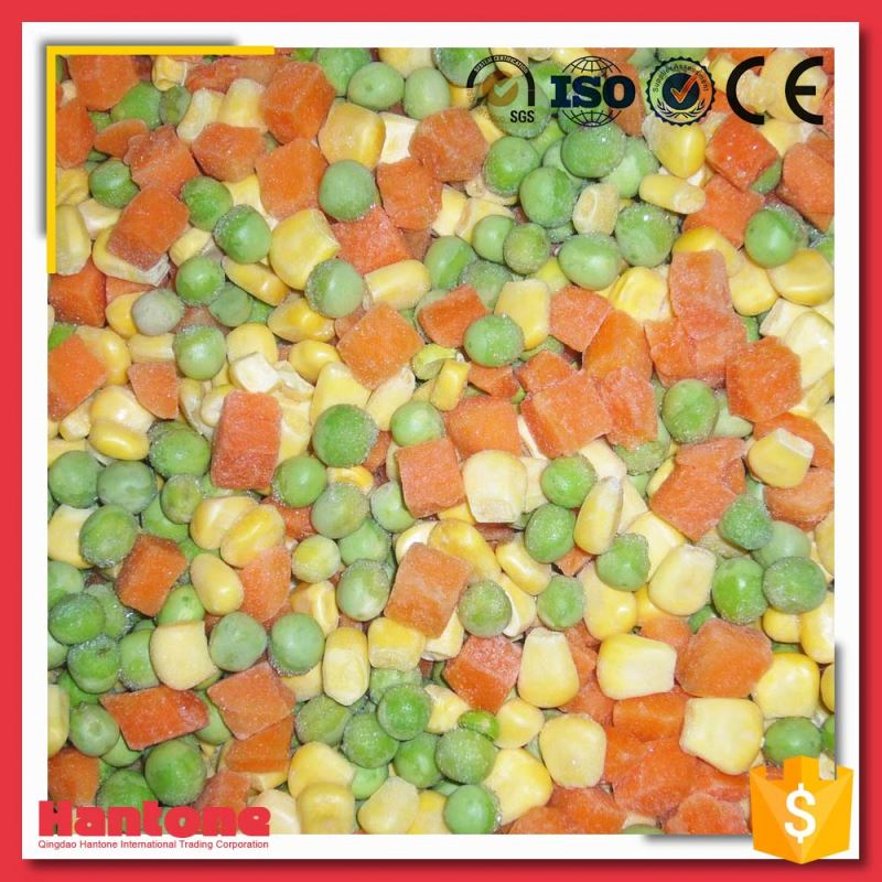 Chinese New Crop Organic Frozen IQF Mixed Vegetables Price