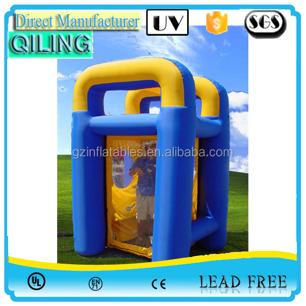 2016 qiling promotional inflatable cash grabbing money machine game for advertisment