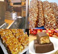 Hot sale chocolate bar wrapping machine/peanut candy bar making machine