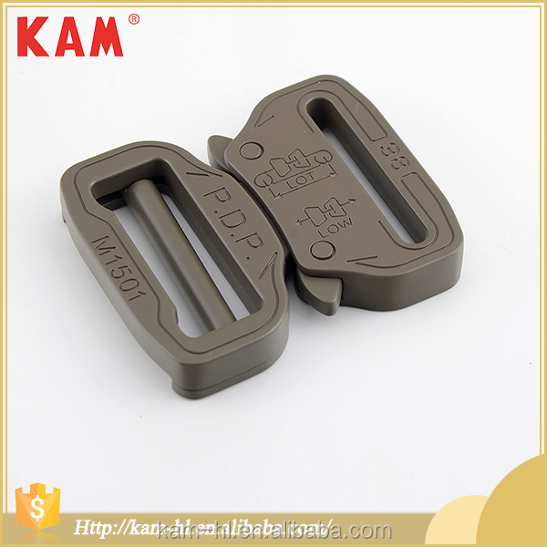 High grade plastic buckles quick connect alloy metal side release buckle