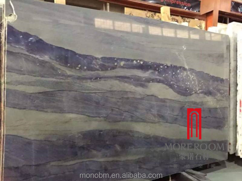 Royal Blue Marble Slab With Natural Veins Blue Stone