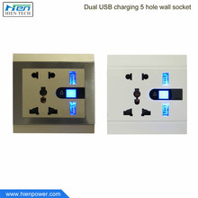 AC Outlet Wall Charger Socket Station Mount with Dual USB Charging Port Wall Charger 5V-2.1A/2.4A