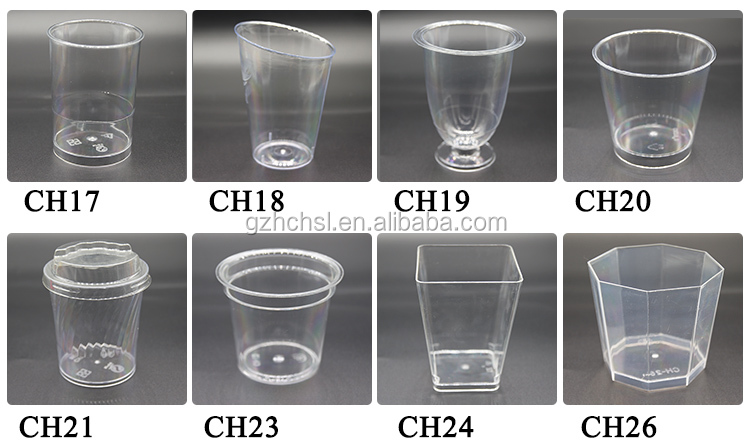 Custom disposable plastic cup 90ml PS PP clear plastic cup with lid,Plastic Dessert Cups with lids Ice Cream Cups with spoon