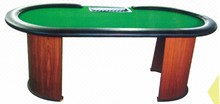 Wooden Octagon Folding Leg Plastic Casino Poker Table Top