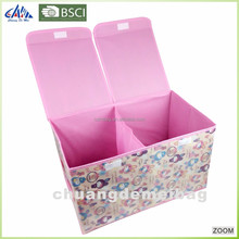 Top Fashion Zipper Clothing Fabric Home Foldable Storage Box