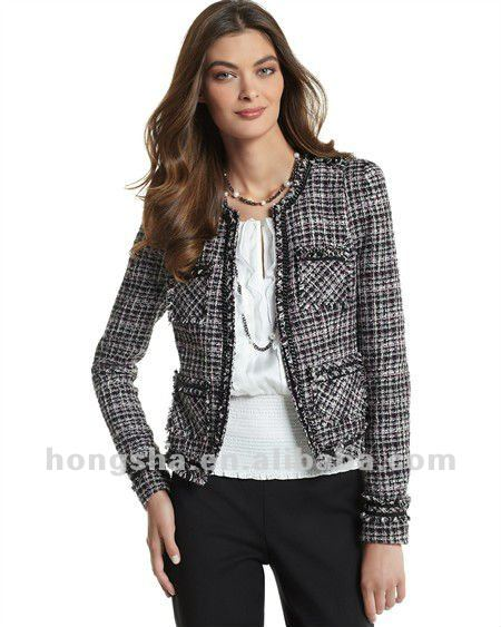 Womens Winter Tweed Jacket For Women Hsc094 - Buy Tweed Jacket ...