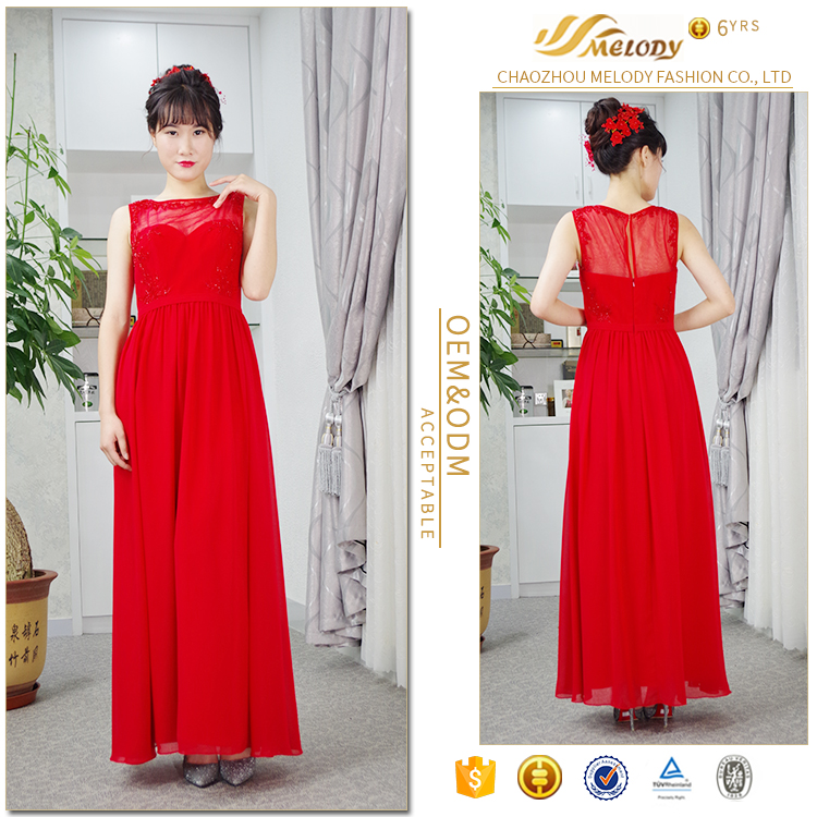 Low price under 100 dollar in stock fast delivery popular women red wedding gowns dresses