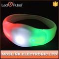 Night Club Promotional Silicone Logo Printed Glowing Led Wristband For Party