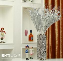 Wholesale artificial flower pot in wedding hotel,tall ceramic vase from Jingdezhen