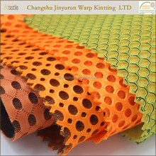 Soft breathable warp knitted polyester small hole mesh fabric