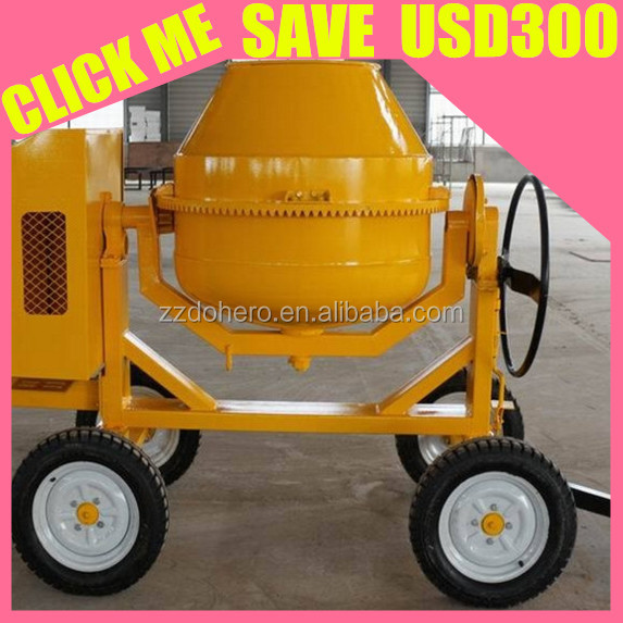 Leading portable movable 2 wheels 4 whees beton cement concrete mixer