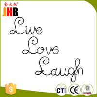 JHB Live Love Laugh Set 3 Wall Mount Metal Wall Word Sculpture