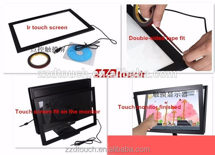 16:9 16:10 wide screen 24 touchscreen ir touch overlay kit for raspberry pi,win 7