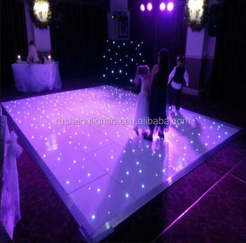 Guangzhou best selling Wedding Party Program Colorful RGB LED Starlit Dance Floor