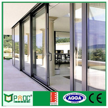 Cheap Price High Quality Aluminum Sliding Glass Door With Grills Design PNOC101201LS