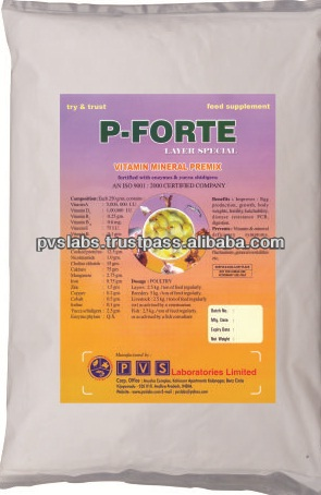 Multi vitamins and minerals for poultry feed supplement