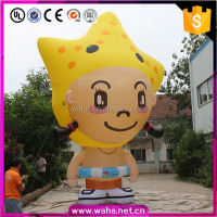 6m inflatable starfish girl cartoon for stage club wedding advertising hall decoration