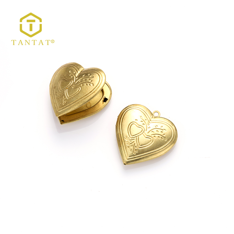 Gold Plated Stylish Jewelry Findings Heart Shaped Name Locket