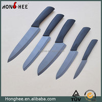Soft Grip Handle Sharp Black Blade Ceramic Knife