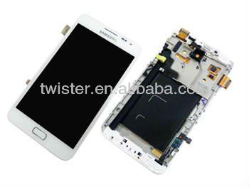 For Touch screen+display Sam Galaxy Note II N7100 white A+
