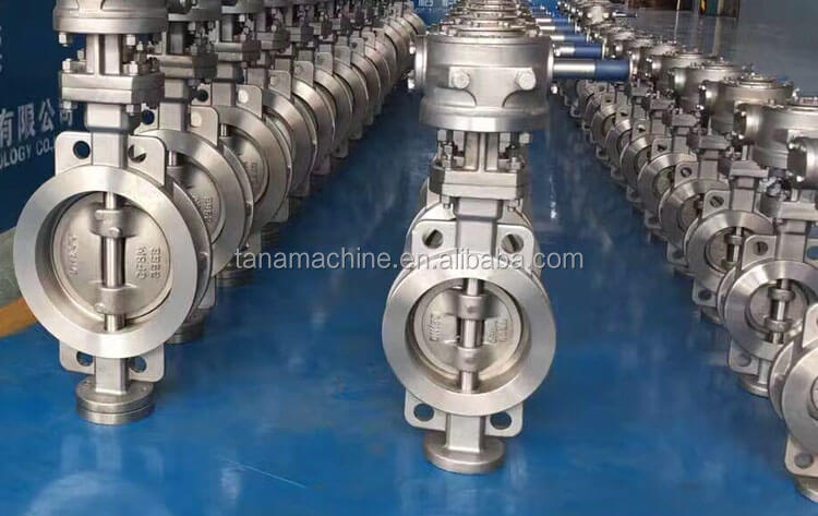 D373H manual Wafer type metal seat butterfly valve