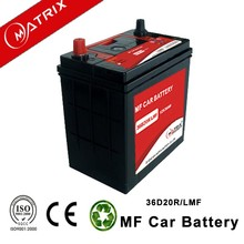 ns40 12v 36AH smf lead acid hybrid car automotive battery for distribution