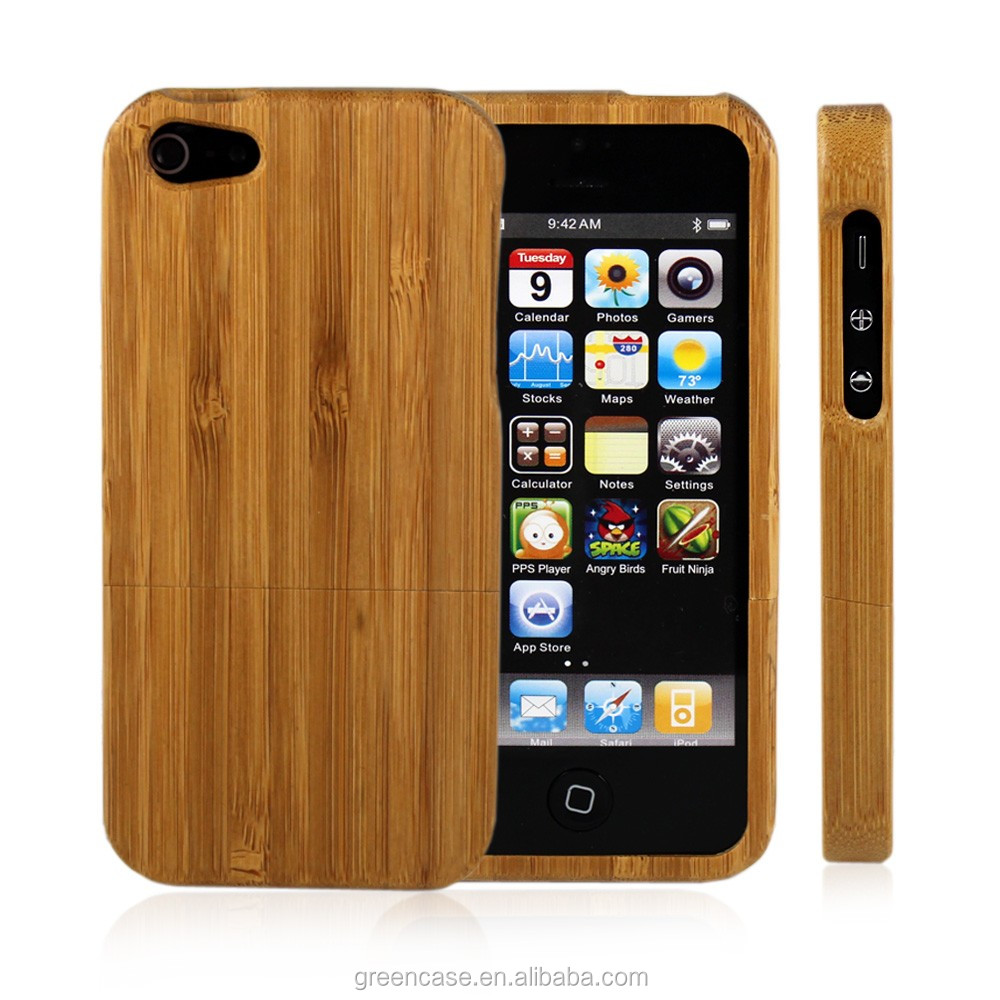 100%Solid Wood Customizable 7 Material of Wooden Case Split Type 4.0 inches Cell Phone Case for Iphone5/5s/5 se