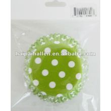 Lime Green White Polka Dot Cupcake Baking Liners (50 count)