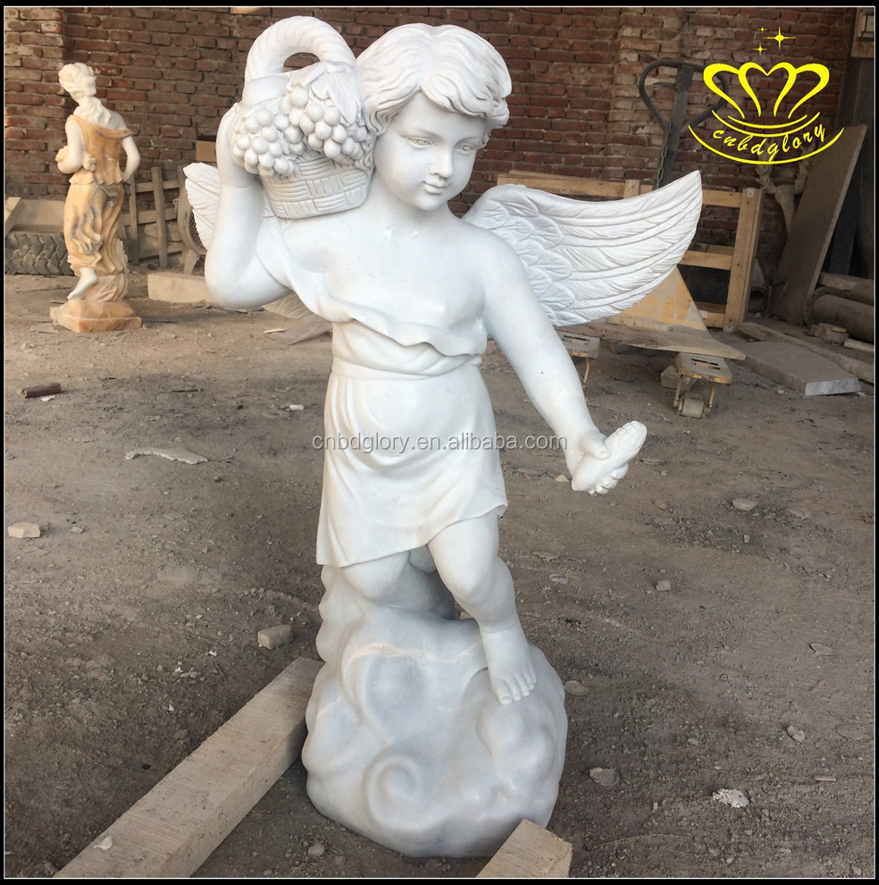 Beautiful stone Praying Solar Angel resin Statue figurine sculpture