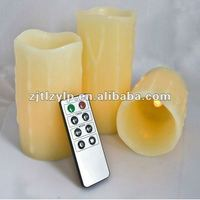 2012 OEM new shapes colorful LED candle made in china
