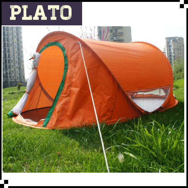 Orange camping travelling tent,beach shelter,pop up tent wholesale