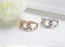 wholesale fashion jewelry unique lip ring with crystal stone