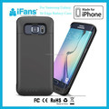 Wholesale iFANS Rechargeable External Backup Battery Charger Case,Mobile Phone Case for Samsung Galaxy S6 Edge