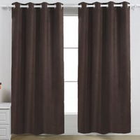 blackout micro suede grommet window curtain set