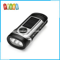 Waterproof 3 LED Flashlight Portable Solar or Hand Crank for Camping