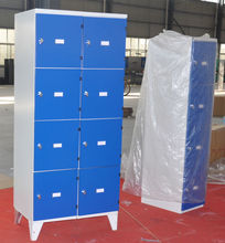 funky metal locker room furniture with different colors